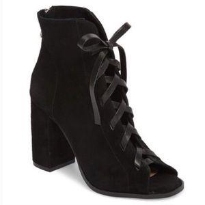 Kristin Cavallari Layton Black Lace Up Booties 6.5